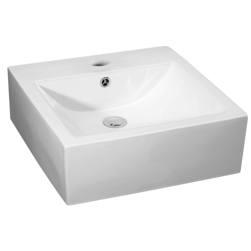 Rectangular 470mm Vessel Basin - 1 Tap Hole